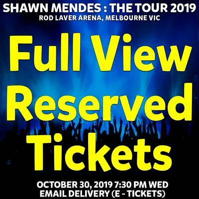 Shawn Mendes : The Tour    Melbourne   Full View Reserve Tickets Wed 30 Oct 2019