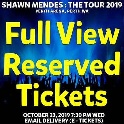 Shawn Mendes : The Tour    Perth   Full View Reserve Tickets Wed 23 Oct 2019