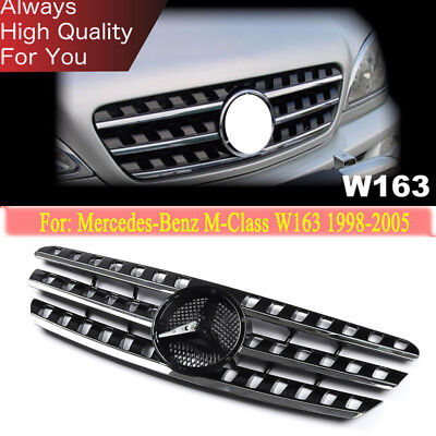 For 1998-2005 Mercedes Benz W163 ML320 Front Grilles Grill Mesh Vent Trim Black