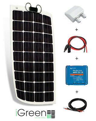 Kit panneau solaire 150W 12V camping-car complet flexible (150 watts)