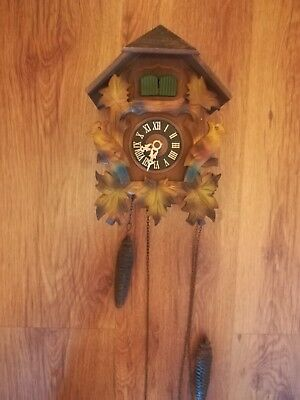 Old Twin Bird Black Forest Cuckoo Clock spares or repairs