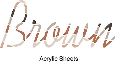 Brown & Beige Acrylic Sheets in Frosted, Metallic & Matte finishes