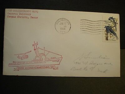 USCGC RELIANCE WPC-615 Naval Cover 1964 COMMISSIONING Cachet GALVESTON, TEXAS