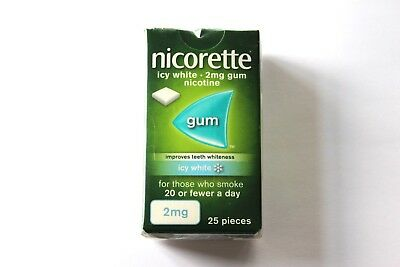Nicorette Icy White Flavour 2mg Sugar-Free Coated Gum - 25 Pieces