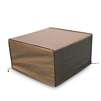 "Square Fire Pit/Table Cover Outdoor Cover Waterproof Brown 43"" x 43""  x 24"""