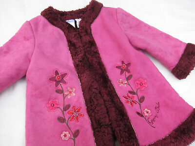 Hippie Baby Girls Faux Suede & Fur Boho Coat ~ Size 0 ~ 'Gypsy Babe'