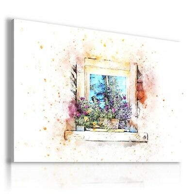 PAINTING FLOWERS WHITE PINK PRINT Canvas Wall Art R114 MATAGA