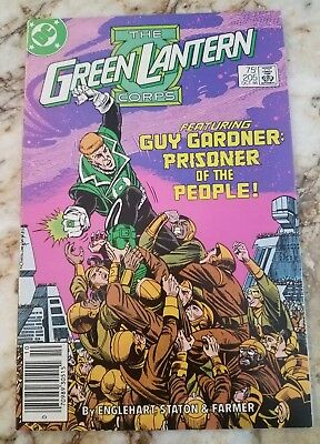 Green Lantern Corps #205 Nm- Guy Gardner 1 Appearance 1986 Newsstand Comic
