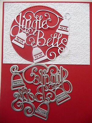 Thin Metal Cutting Die Dies Christmas Jungle Bells Card Scrapbooking Sizzix