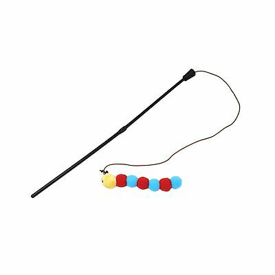 Official Licensed Cat Pet Toy Extra Long Play Pom Pom Caterpillar Teaser