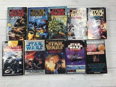 Star Wars Paperback Lot Of 10 X Wing Han Solo Children Of The Jedi