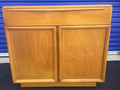 "Mid-Century Heywood Wakefield ""encore"" 2 Door / 1 Drawer Chest With Wheat Finish"