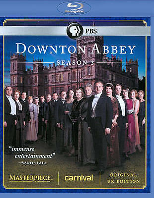 DOWNTON ABBEY SEASON 3 (Blu-ray Disc, 2013, 3-Disc Set) NEW