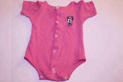 Infant/Baby Girls Minnie Mouse 18 Months Vintage Creeper One-Piece (Pink) Baby M