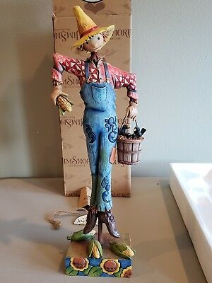 "HTF Jim Shore ""Scaring Up Fun"" Scarecrow (2009) Excellent Cond. w/box 4014446"