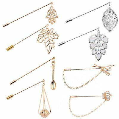 Charm Crystal Flower Women Men Piercing Boutonniere Brooch Pin Breastpin Jewelry