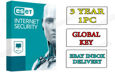 Eset Internet Security 2018 2year 3pc 100% Original fast delivery