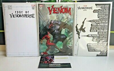 Lot 3 Venom Marvel VARIANTS Skyline Parrillo #161 Edge of Venomverse #1 Blank