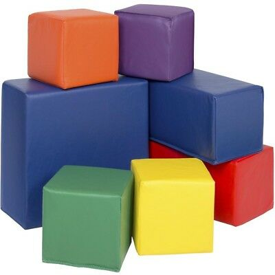 BCP 7-Piece Soft Foam Blocks Set for Sensory Development&Motor Skills-Multicolor