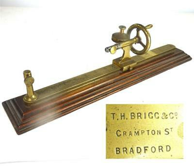 Antique Wooden & Brass Tool T.h. Brigg & Co Bradford Sowing Knitting