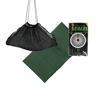 NGT Anglers Weigh set 50lb Scales,Sling & Unhooking mat carp / pike fishing