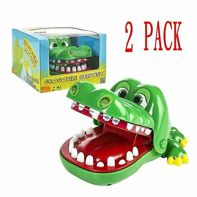 2X Funny Large Crocodile Mouth Dentist Bite Finger Toy Family Game For Kids Xmas