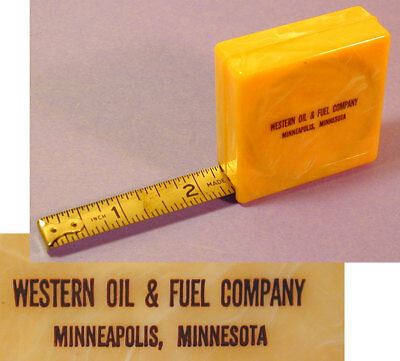 Vintage Western Oil & Fuel Company Advertising Ruler