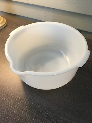 "Vintage Glasbake For Sunbeam Mixing Pouring 9"" Bowl Milk Glass White"