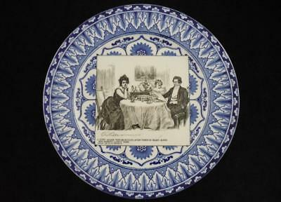 """ROYAL DOULTON - ANTIQUE GIBSON GIRL PLATE - """"... DINNER with DR BOTTLES ..."""""""