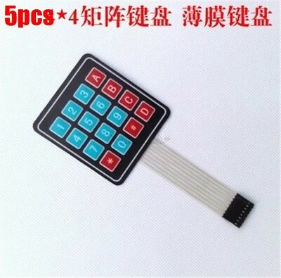 5Pcs For Arduino Keypad Keyboard 4 X 4 Matrix Array 16 Key Avr Membrane Switc hp