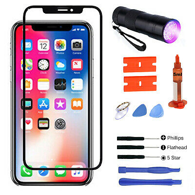 For iPhone X Replacement Front Outer Touch Screen Glass Lens Repair Tools Kit