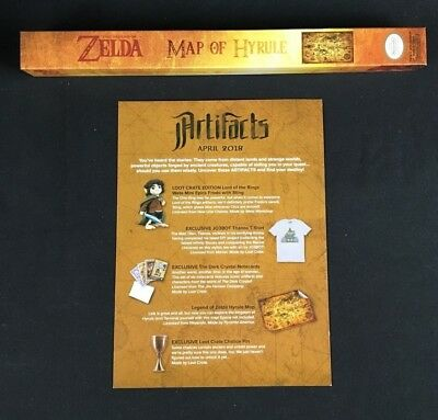 Legend of Zelda Hyrule Map Lootcrate Exclusive Nintendo Artifacts April 2018