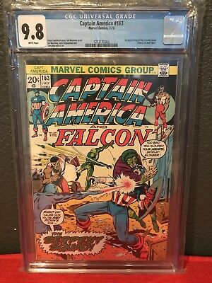 Captain America #163 CGC 9.8 White Pages First Appearance Serpent Squad 6 Census