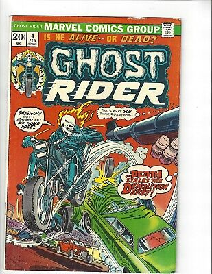 Ghost Rider #4 Marvel Comics 1974 Bronze Age Horror movie hi rez scan nick cage