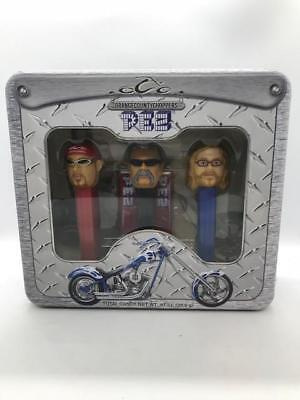 Orange County Chopped Set of Pez Container with Metal TIN Nice UNOPENED