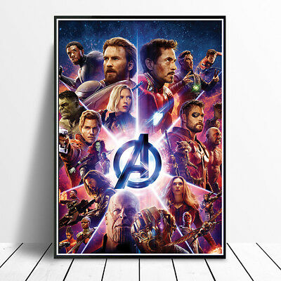 Avengers Infinity War 2018 Movie Poster  A4 A3 High Quality Print Wall Art