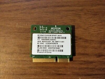 BroadCom BCM94313HMGB Half Mini PCIe Bluetooth/WiFi Wireless Card