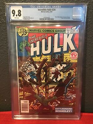 The Incredible Hulk #234 CGC 9.8 White Pages First Appearance Quasar Marvel Man