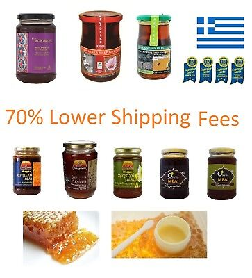 15+Greek Raw Honey in sealed glass boxes from top best certified small producers