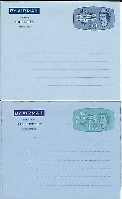 ..st Kitts      Air Letter  /  Aerogram    Mint    .10 And .15 Cents