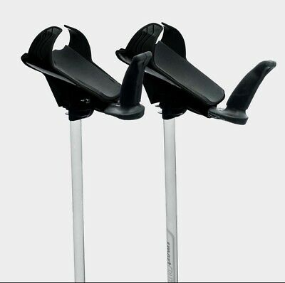Smartcrutch Crutches Black Max weight: 120 kg Height in Shoes – 142cm to 194cm