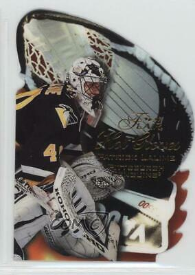 1996-97 Flair Hot Gloves 6 Patrick Lalime Pittsburgh Penguins Rookie Hockey Card