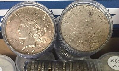 1922-1926 Peace Silver Dollar Very Good - Extra Fine 90% Coin!