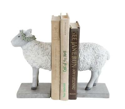 """First of a Kind Resin Sheep Bookends Set of 2 8.5"""" L x 3.75"""" W x 7.75"""" H Perfect"""