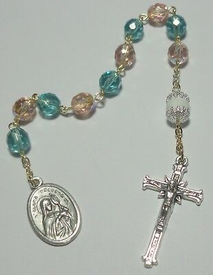 Handmade in USA St Clara Single Decade Rosary Patron of Eyes, Good Weather & TV