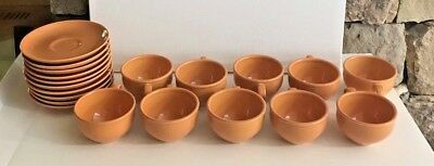 Russel Wright Iroquois Cantaloupe teacup and saucer set of 1 - (10 Available)