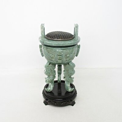 E464: Chinese incense burner of high-quality stone of appropriate form and work