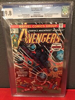 The Avengers 137 CGC 9.8 White Pgs First Appearance Beast and Moondragon On Team