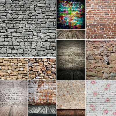 Vinyl Photography Background Retro Brick Wall Backdrop Wallpaper 10x10FT Studio