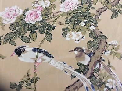 Vntg. SPRINGMAID Pillow Case WONDERCALE Birds Rose Flower Tree Estate Find